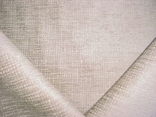 7Y COLEFAX FOWLER LIGHT GREY / WHITE CHENILLE DRAPERY UPHOLSTERY FABRIC