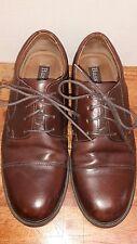 Bass Pickett 0705 Mens Brown Leather Cap Toe Flex Comfort Oxfords Shoes Sz 9W