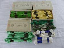 DMC lot de 42 échevettes COTON MOULINE 25 jaune 745 vert 703 et 954 , art. 117
