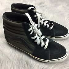 Heavily Worn RARE Rebel 8 Black Gray Vans Sk8 Hi Shoes Sz 10.5