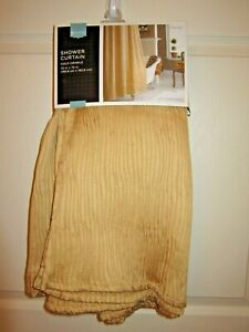 Gold Fabric Crinkle Shower Curtain Home 72x72 Target