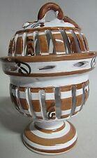 Windlicht Stövchen Windstövchen Teelicht Keramik  14 cm Ø 9 cm unbenutzt