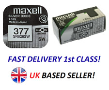 Genuine Maxell 377 AG4 SR626SW Watch Cell Batteries 1.55v Silver Oxide