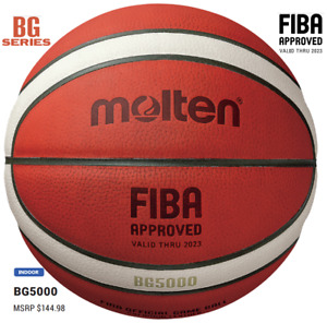 Molten BG5000 Basketball Premium indoor Leather Adult Size 7 29in FIBA approved