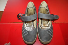 Pavers Brown Leather wedge sandals shoes Mary Jane? Size 6