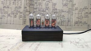 Nixie Tube Clock IN-14 Vintage Clock in wooden case