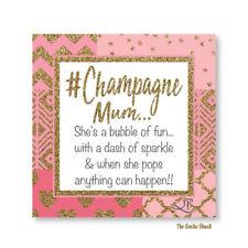 Champagne Mum Ceramic Square Plaque Lisa Pollock Decor Mummy Mother Gift Decor