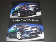 IRMSCHER OPEL coupé DTM brochure catalogue - édition 2001
