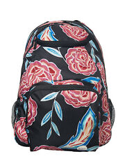 Roxy Shadow Swell Backpack Floral Tropical Book Bag Day Pack