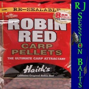 Dynamite Baits Robin Red Pre-Drilled 8mm Session Pack of Approx 100 Pellets