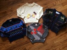 Rare 4 Piece Lot vintage Boy 12 -24 Sweater cardigan Easter Uk Police horse
