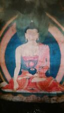Antique Ming Dynasty 17th century Tibetan Thangka of Shakyamuni Buddha