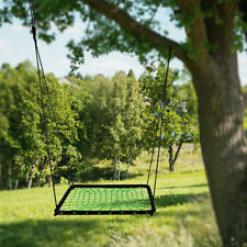 90*90cm Spider Web Platform Tree Swing Green Nylon Rope Children Swing Set Seat