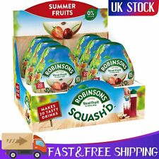 Robinsons Squash'd No Added Sugar Makes 20 Drinks Per Pack of 6 Summer Fruits
