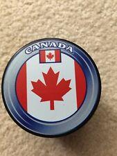 Canada Hockey Flag Souvenir Puck