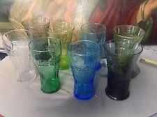 lot 8 verres coca cola couleurs et forme différentes. Voir photo