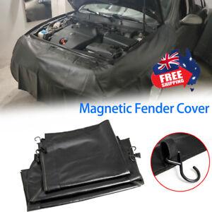 3Pc Universal Magnetic Fender Cover Mat Pad Foldable Heavy Duty Hooks Gripper AU