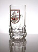 ~~RARE ALP SWISS LAGER HALF PINT GLASS TANKARD SWITZERLAND