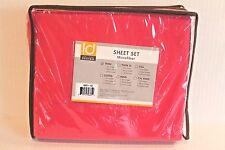 Intelligent Design Bright Pink Twin Size Microfiber Sheet Set Bedding Sheets NEW