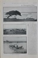 1900 PRINT PORTUGUESE PORT INVASION OF TRANSVAAL HMS THRUSH HMS WIDGEON