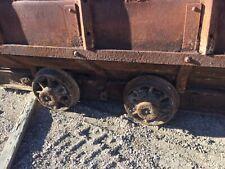 Mine cart oar cart old coal cart orignal bottom dump rare cart with track