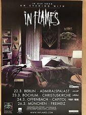 IN FLAMES  2017  TOUR   + orig.Concert Poster -- Konzert Plakat  A1 NEU