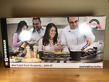 Swissmar Swivel Raclette 8 Person Pivoting Party Grill Hot Stone Aluminum New056
