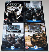 4 x MEDAL OF HONOR - ALLIED ASSAULT & ADD ONS BREAKTHROUGH SPEARHEAD & AIRBORNE