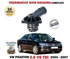 FOR VW PHAETON 3.0 V6 TDI  224BHP 4MOTION 2004-2007 THERMOSTAT + HOUSING KIT