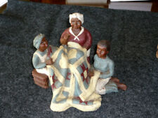 Sarah's Attic ~ Three Women Quilting Large Size Collectible Figurine Nice!