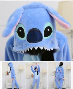 Disney Lilo Stitch Blue Stitch Pajamas Unisex Adult Costume Cosplay Sleepwear