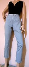 CUE size 8 soft aqua stretch slim fit PANTS ankle length with cuffs excel cond