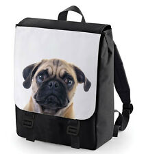 CUTE PUG BACK PACK LARGE (BAGBASE) CUTE ANIMAL LOVER PERFECT FOR SCHOOL