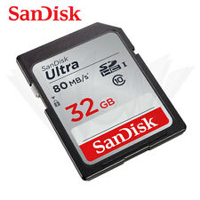 SanDisk 32GB Ultra Class 10 UHS-I SD 80MB/s SDHC memory card