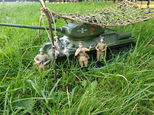 Soviet Model Tanks exact copy T-34-85 1:16 USSR Russian Kit soldiers camouflage
