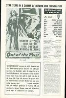 Out of the Past (1947) noir Robert Mitchum Jane Greer Kirk Douglas pressbook