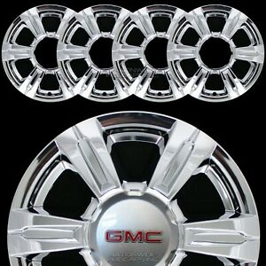 "4 CHROME 2014 2015 2016 GMC TERRAIN 17"" Wheel Skins Full Rim Covers Hub Caps NEW"