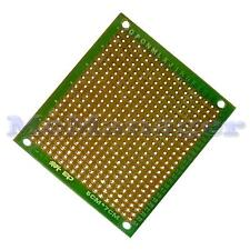 Foré Single Sided Copper Prototype PCB matrice Epoxy Fibre de Verre Planche 50x70mm