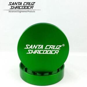 "Medium 2.1"" Green Santa Cruz Shredder Aluminum Herb Grinder 2 Piece Texture Grip"