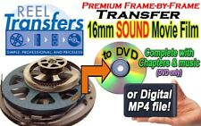We transfer your 16mm SOUND film to DVD or Digital MP4