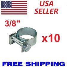 """10 Pcs 3/8"""" Fuel Injection Gas Line Hose Clamps Clip Pipe Auto Vacuum Coolant US"""