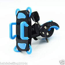 Moto Black+Blue Phone Holder Claw Cross Silicone Bandage Cradle Mount For BMW