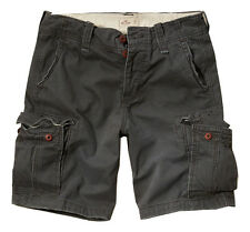HOLLISTER by A&F Mens Classic At The Knee CARGO Shorts  GRAY  Sz 28, 30