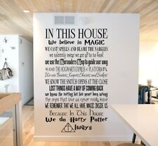 Wall Stickers Harry Potter custom colour in this house vinyl decal decor Nursery