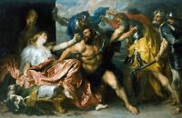 Samson and Delilah by Flemish  Anthony van Dyck. Canvas People. 11x17 Print