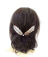 Gold Laurel Leaf Bridal Headpiece Wedding Grecian Silver Diamante Headdress 4160