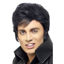 Hombre Años 60 ROCK AND ROLL LEGEND ELVIS PRESLEY Copete Peluca GREASE DANNY