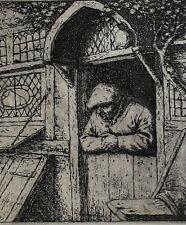 Adriaen Jansz Van Ostade Dutch 1610-1685 Etching Peasant in Doorway