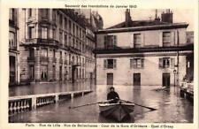 CPA Souvenir des Inondations. PARIS Rue de Lille. Rue de Bellechasse (561965)