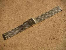 20mm STAINLESS STEEL GOLD COLOURED MESH WATCH STRAP WITH CENTRE FOLD CLASP